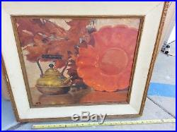 Signed Original early Irion Shields The Brass Kettle 1935 Very Rare Still Life