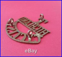 T Highland Cyclist Solid Brass Shoulder Title Very Rare