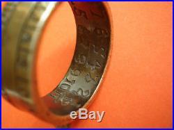 TOP PRICE 100% authentic brass ring sundial IO. H. S. Thon Anno. 1721 VERY RARE