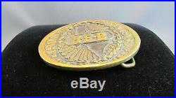 VERY RARE 1983 H-E-B Heritage Mint Registered Collection Brass Belt Buckle HEB