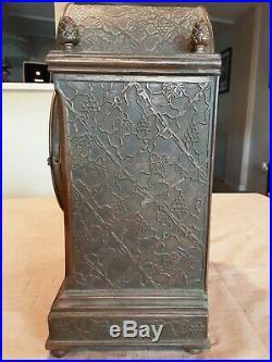 VERY RARE Antique Brass Seth Thomas Pinecone Mantle Clock