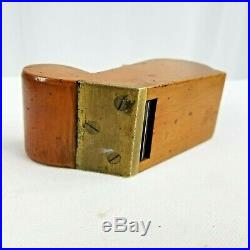 VERY RARE BOXWOOD BULLNOSE, CHARIOT STYLE (MARPLES) withBRASS TOE, 2.5 X 1 PLANE