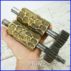 VERY RARE BRASS CANDY DROP ROLLERS Antique mold machine J. P. Klau. S warszawa