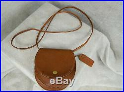 VERY RARE COACH Vintage Horseshoe Belt Bag British Tan Brass LN