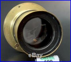 VERY RARE! Dallmeyer Bergheim Brass Soft Focus Lens No 1 wet plate 8x10