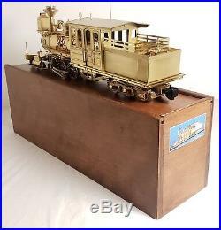 VERY RARE Delton Brass Breckenridge Mason Bogey 2-6-6T G Scale Steam Engine