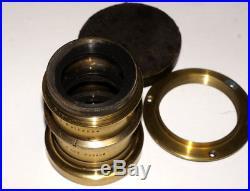 VERY RARE Emil Busch Portrait Aplanat 3 F=280 mm F6 Vintage brass lens 8x10
