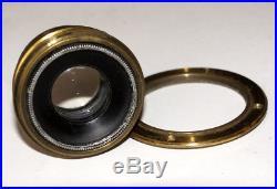 VERY RARE Huttig Dresden Doppel-Anastigmat Maximar Brass lens 120 mm F6.8 13x18