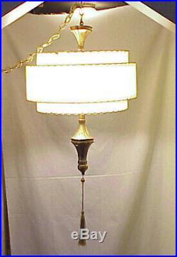 VERY RARE MCM MARBRO HANGING SWAG LAMP MID CENTURY MODERN BRASS BRONZE Lamp