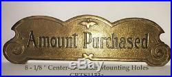 VERY RARE OLD Small Three-Hump Brass National Candy Store Cash Register Sign