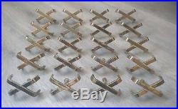 VERY RARE! Original Paul Frankl Brass X Dresser Drawer Pulls Nightstand Handles