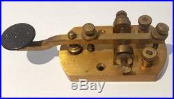 VERY RARE Signal Electric Mfg Antique Brass Morse Code Telegraph Key Ham Radio