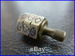 VERY RARE TRI-LEVEL Crown & Anchor Spinner Put and Take Teetotum Brass Tri Level