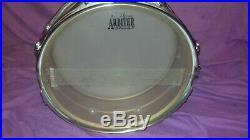 VERY RARE Vintage Premier PROTOTYPE 14x5 brass shell snare drum 8-lug vg