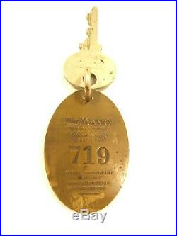 VERY RARE Vtg THE MAYO HOTEL Tulsa Oklahoma #719 SOLID BRASS HOTEL ROOM KEY