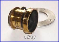 VERY RARE WIDE ANGLE Brass lens F11 COVERS 6 1/2 x 4 3/4 (About 12x16 cm)