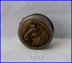 VERY RARE brass RELIEF HORSE, TAPE MEASURE NOVELTY