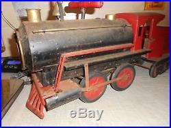 VINTAGE VERY RARE 1920's-30's KEYSTONE RIDE ON LOCOMOTIVE 6400, EXAMINE, BRASS