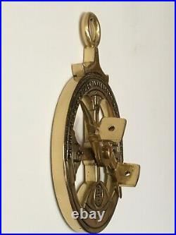 Very Beautiful antique and rare Portuguese astrolabe made of brass, XVII century