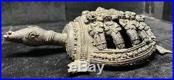 Very Old Rare Hand Wrought Cast Bronze Brass Islamic Tortoise Turtle Figure
