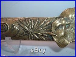 Very RARE Antique Victorian Brass/ Bronze Figural ELEPHANT Cigar Cutter