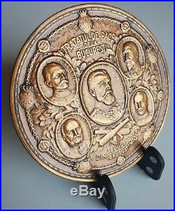 Very RARE Peace from Bucharest The Peace Treaty from Bucharest 1913 Brass Medal