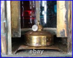 Very Rare Antique 1916 Brass Perkins Nautical Marine Combination Navigation Lamp