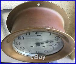 Very Rare Antique Chelsea Ships Bell Clock 6 3/4 Dial Model 103 1/2 Red Brass