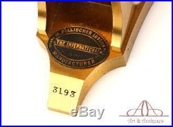 Very Rare Antique English Pillischer Brass Microscope. England, Circa 1890