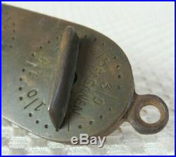 Very Rare Antique'Norfolk Liar' Hunting Game Counter in Nickel Silver and Brass