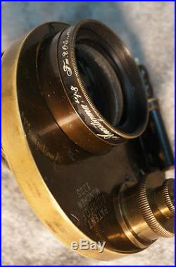 Very Rare Antique Old Vintage Brass Anastigmat 18 F=205 PATENT LINHOF