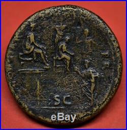 Very Rare Brass Sestertius Of Nerva Congiar P R. Rome, December Ad 96. Ric 71