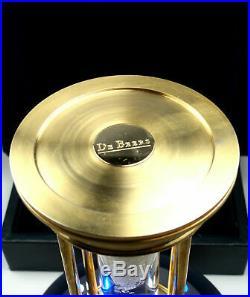 Very Rare! De Beers Limited Edition Millennium 2000 Diamond Brass Hourglass