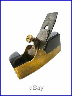 Very Rare NORRIS No4G Heavy Brass Smoother With Ebony Infill