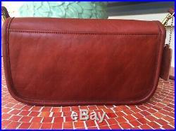 Very Rare Original NYC Dinky Vintage Coach Shoulder Bag in Oxblood Red. 1970s