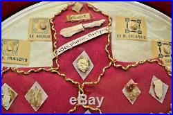 + Very Rare! Ornate Brass Reliquary Shrine/House with Multiple Relics + (CU930)