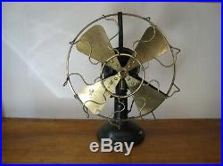 Very Rare Sprauge Lundel Motor DC 12 Inch Brass Fan All Original