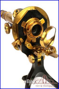 Very Rare Stiassnie French Brass Microscopie. France, Circa 1900
