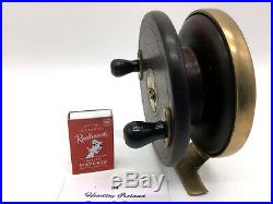 Very Rare Vintage Australian Fishing Reel Headley Ireland Cedar Brass Wheelback