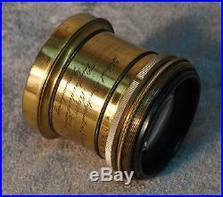 Very Rare Vintage Brass Voigtlaender Portrait Anastigmat 4.5 f160 Gooke Patent