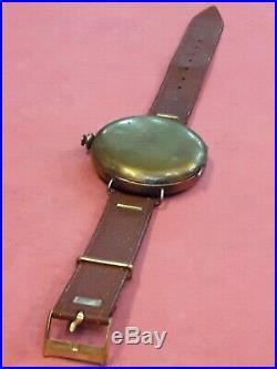 Very Rare Vintage Ww2 Brass Us Military Compass Wrist Watch