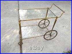 Very Rare antique bar cart Trolly French Victorian