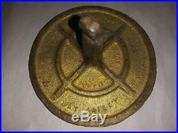 Very rare 1940's Dr Pepper brass safety marker this is an original one curved