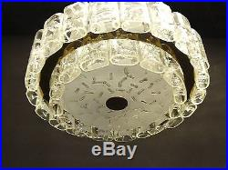 Very rare Ceiling Fixture by DORIA. Germany, 36 oval, frosted glass tubes