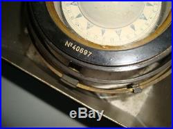 Very rare Russian marine brass compass 1954\USSR