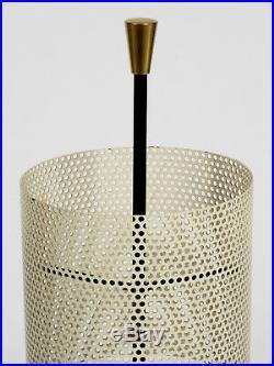 Very rare round mid century modern perforated metal umbrella stand