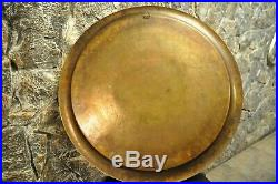 Very rare tray. Wall plate made of brass inlaid with silver. Of the 19th century