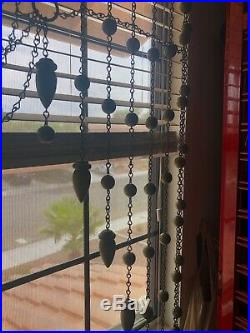 Victorian Ball And Chain Portiere curtain (very rare antique)