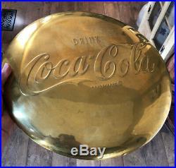 Vintage 1950s Brass 16 Coca-Cola Button Very Rare Excellent Condition Sign