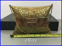 Vintage Brass Chinese Evening Purse Very Rare Collectible